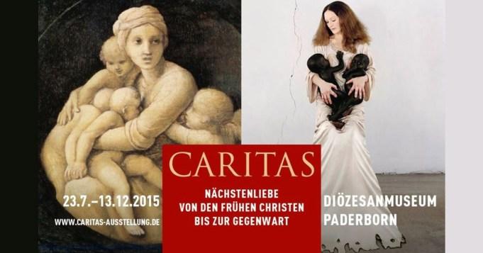 Affiche met de aankondiging van de tentoonstelling Caritas in het Diözesanmuseum Paderborn in 2015