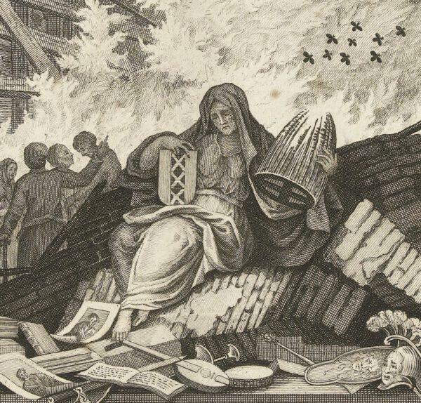Verlies van het culturele hart na rampen
