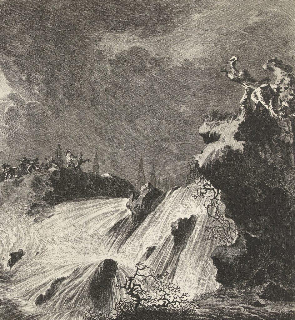 Het doorbreken van de St Anthonisdijk buiten Amsterdam, detail