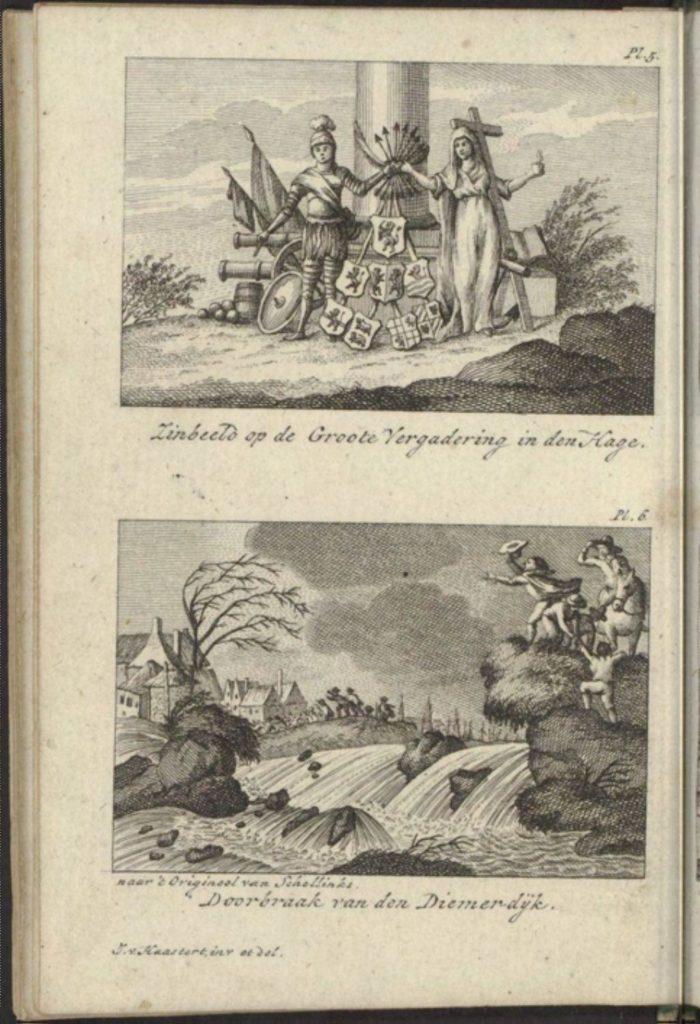Doorbraak van den Diemerdijk, in Vaderlands zakboekje